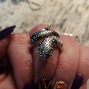 Jewelry - 1/2 Carat Sterling Silver Snake Ring